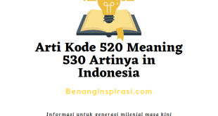 Arti Kode 520 Meaning 530 Artinya in Indonesia