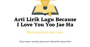Arti Lirik Lagu Because I Love You Yoo Jae Ha
