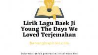 Lirik Lagu Baek Ji Young The Days We Loved Terjemahan