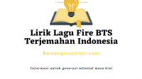 Lirik Lagu Fire BTS Terjemahan Indonesia