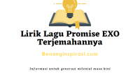 Lirik Lagu Promise EXO Terjemahannya