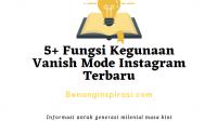 Fungsi Kegunaan Vanish Mode Instagram