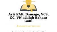 Arti PAP, Damage, VCS, GC, VN adalah Bahasa Gaul