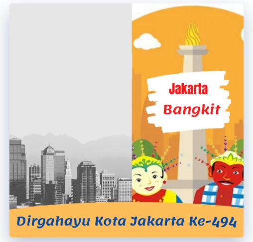 Twibbon HUT Jakarta Terbaru